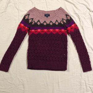 multi colored american eagle sweater